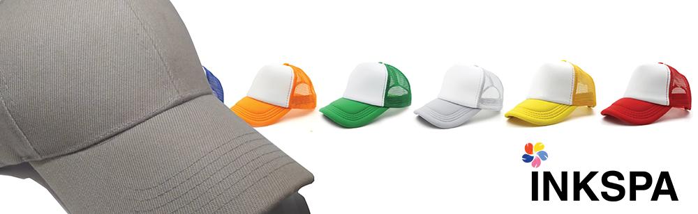 หมวก หมวกแก๊ป หมวกตาข่าย หมวกสำหรับสกรีน หมวกสกรีน หมวกเบสบอล
