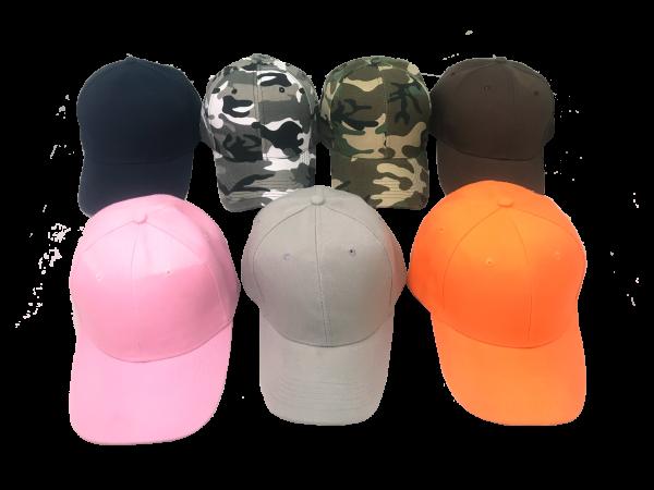หมวก หมวกแก๊ป หมวกสำหรับสกรีน หมวกสกรีน หมวกเบสบอล หมวกเบสบอลสีพื้น หมวกสีพื้น