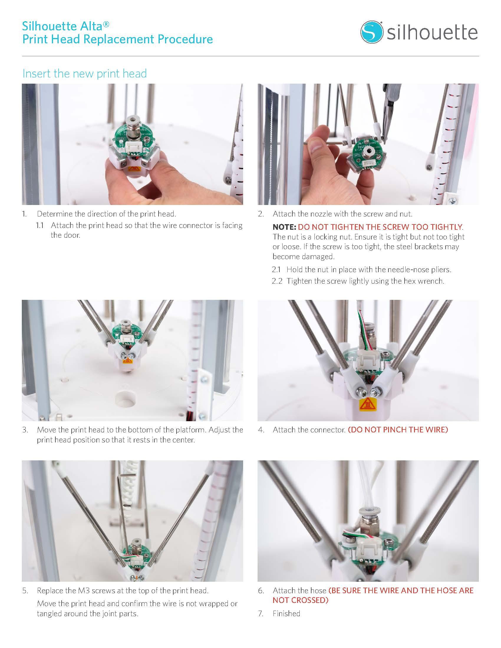 หัวพิมพ์เครื่อง 3D. Silhouette Alta, เครื่องพิมพ์ 3มิติ