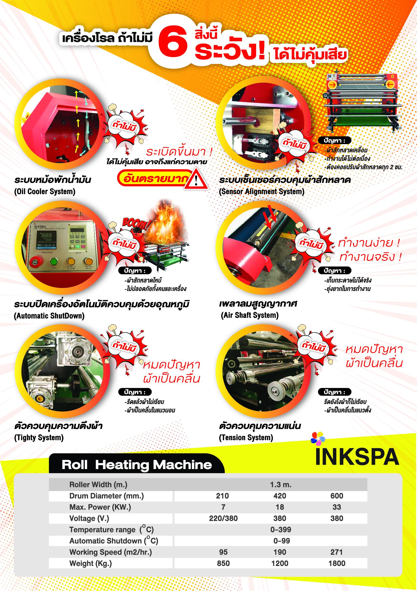 เครื่องรีดโรล,เครื่องรีดร้อนแบบม้วน,เครื่องสกรีน Roll to Roll, เครื่องพิมพ์ผ้าม้วน, เครื่องสกรีนผ้าม้วน, เครื่องสกรีนแบบม้วนต่อเนื่อง, เครื่องรีดสกรีนแบบม้วนโรล, เครื่องสกรีนเสื้อกีฬา, heat transfer roll to roll, Roll Heat Transfer, เครื่องสกรีนทรานเฟอร์, เครื่องทรานเฟอร์, เครื่องรีดทรานเฟอร์, เครื่องรีดร้อน, เครื่อง heat transfer, เครื่องสกรีนขนาดอุตสาหกรรม, เครื่องรีด INKSPA, เครื่องฮีตทรานเฟอร์, เครื่องพิมพ์เสื้อ